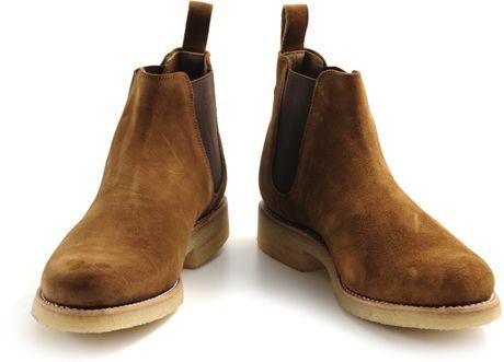 Grenson Hayden Snuff Suede Chelsea Boot Crepe Sole In