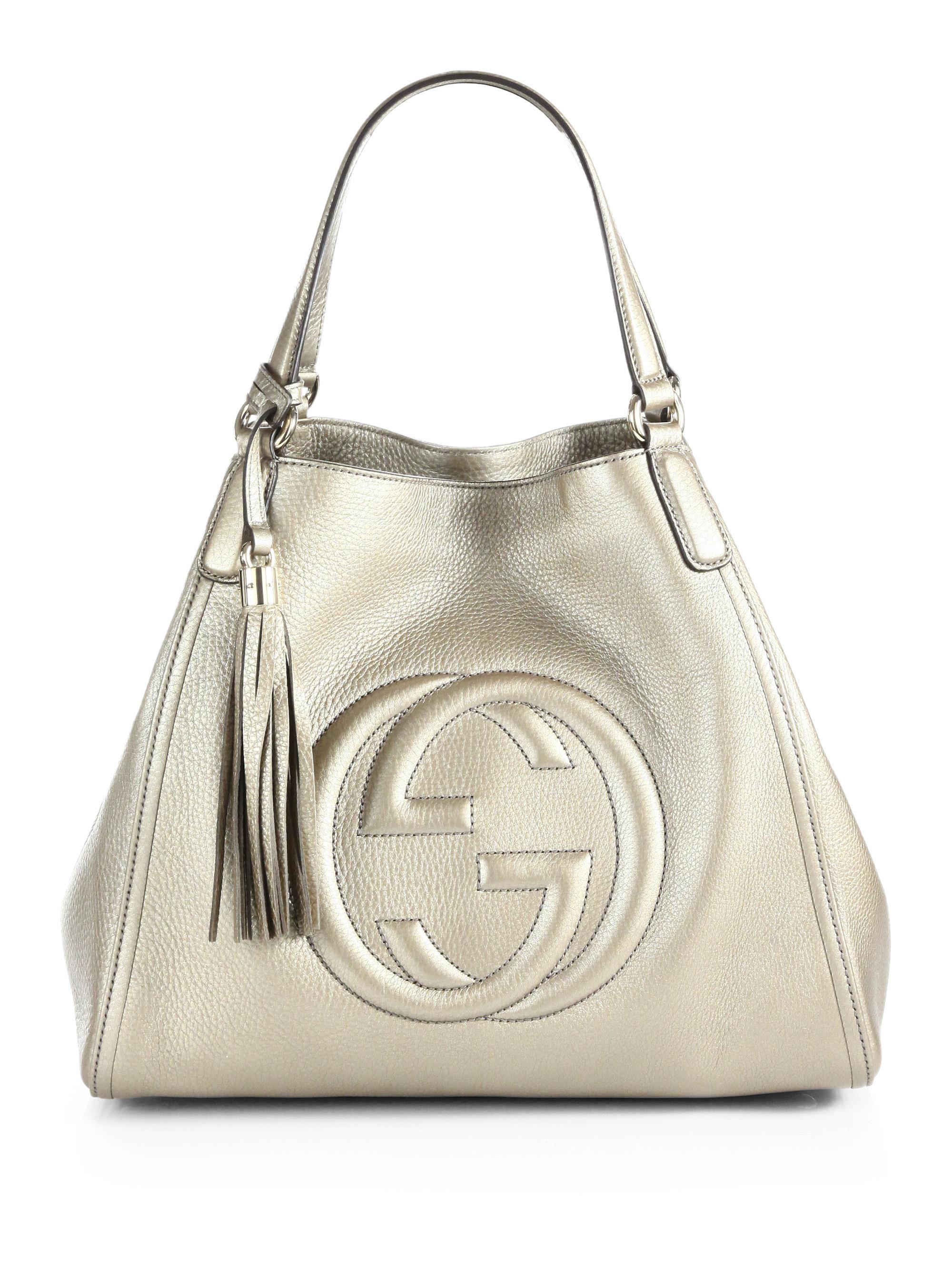 Soho Metallic Leather Shoulder Bag