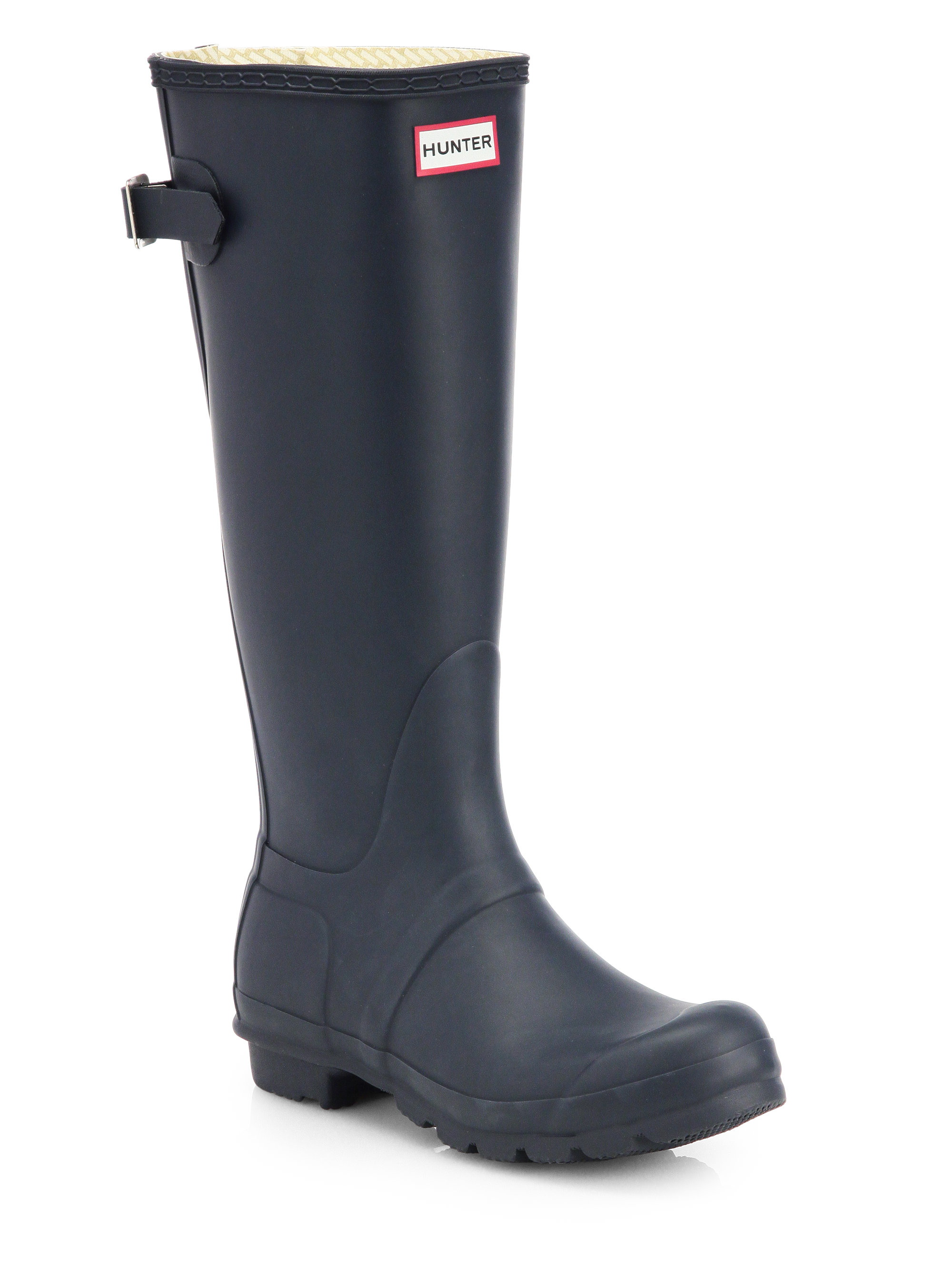 Model Hunter Womenu0026#39;s Original Tall Wellington Boots - Navy | Free Delivery*