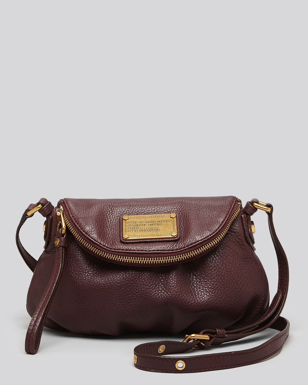 marc by marc jacobs classic q mini natasha crossbody in brown lyst. Black Bedroom Furniture Sets. Home Design Ideas
