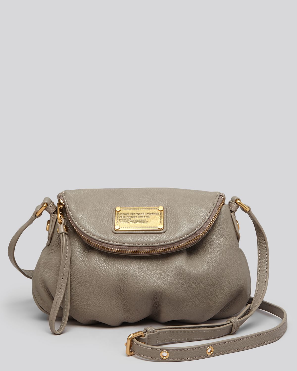 marc by marc jacobs crossbody classic q mini natasha in gray lyst. Black Bedroom Furniture Sets. Home Design Ideas