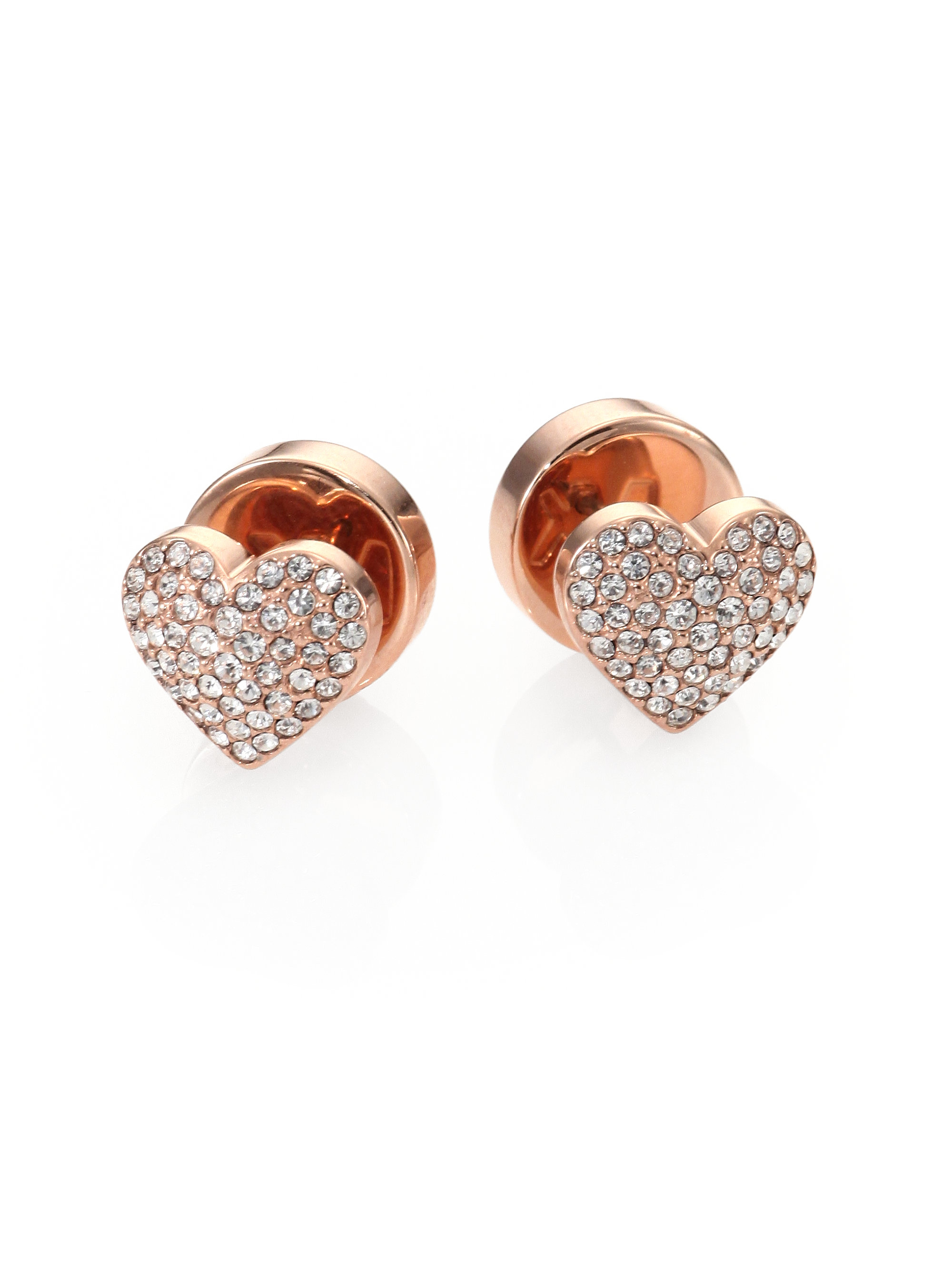Rose Gold Heart Stud Earrings Pqrplcu1I