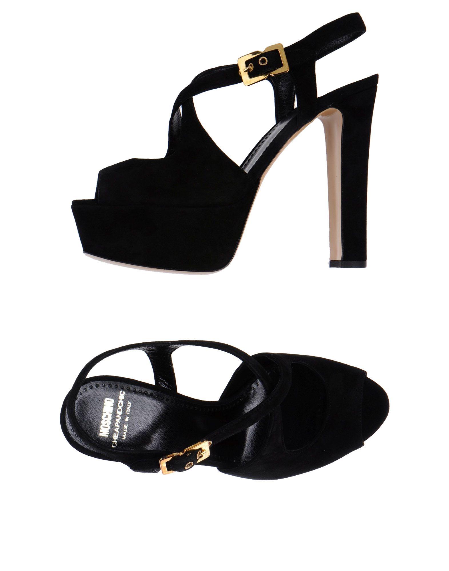 moschino cheap chic platform sandals in black lyst