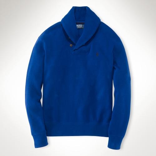 Big Sale 1993 Shawl-collar Intarsia Cotton Sweater Polo Ralph Lauren Best Prices Cheap Price Footlocker Pictures Sale Online erYv5KFq6X