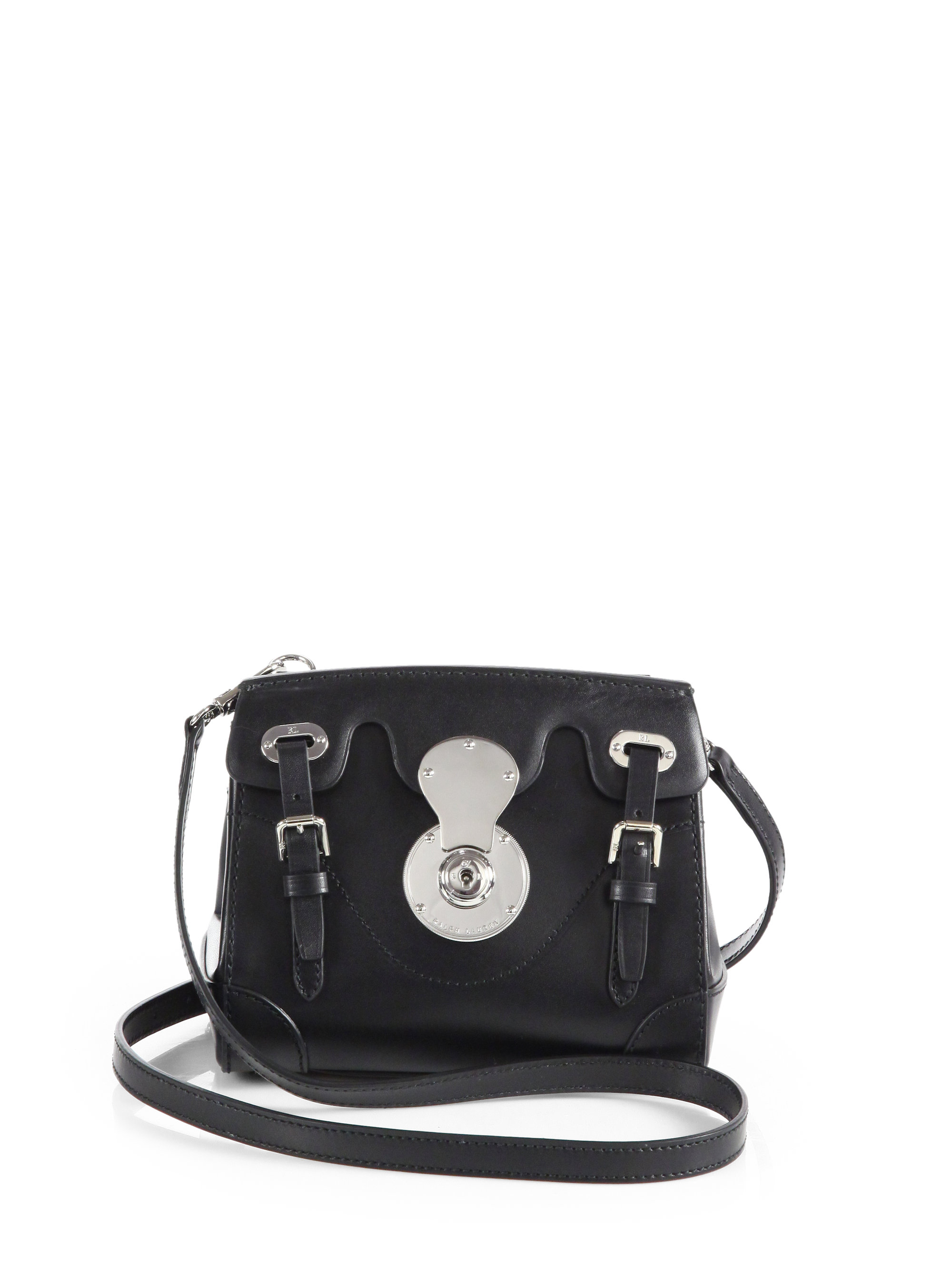 Lyst - Ralph Lauren Collection Soft Ricky Crossbody Bag in Black e5803cde1800e
