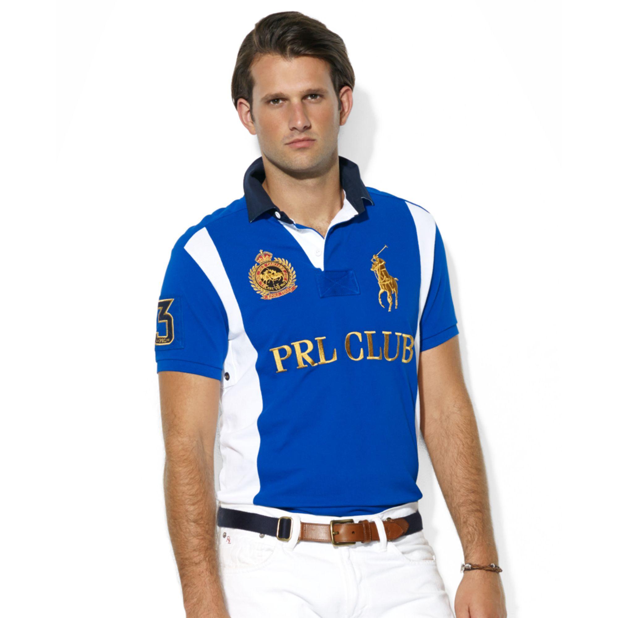 Lyst - Ralph Lauren Custom Fit Prl Club Rugby Collar Short Sleeve ... e366e281a
