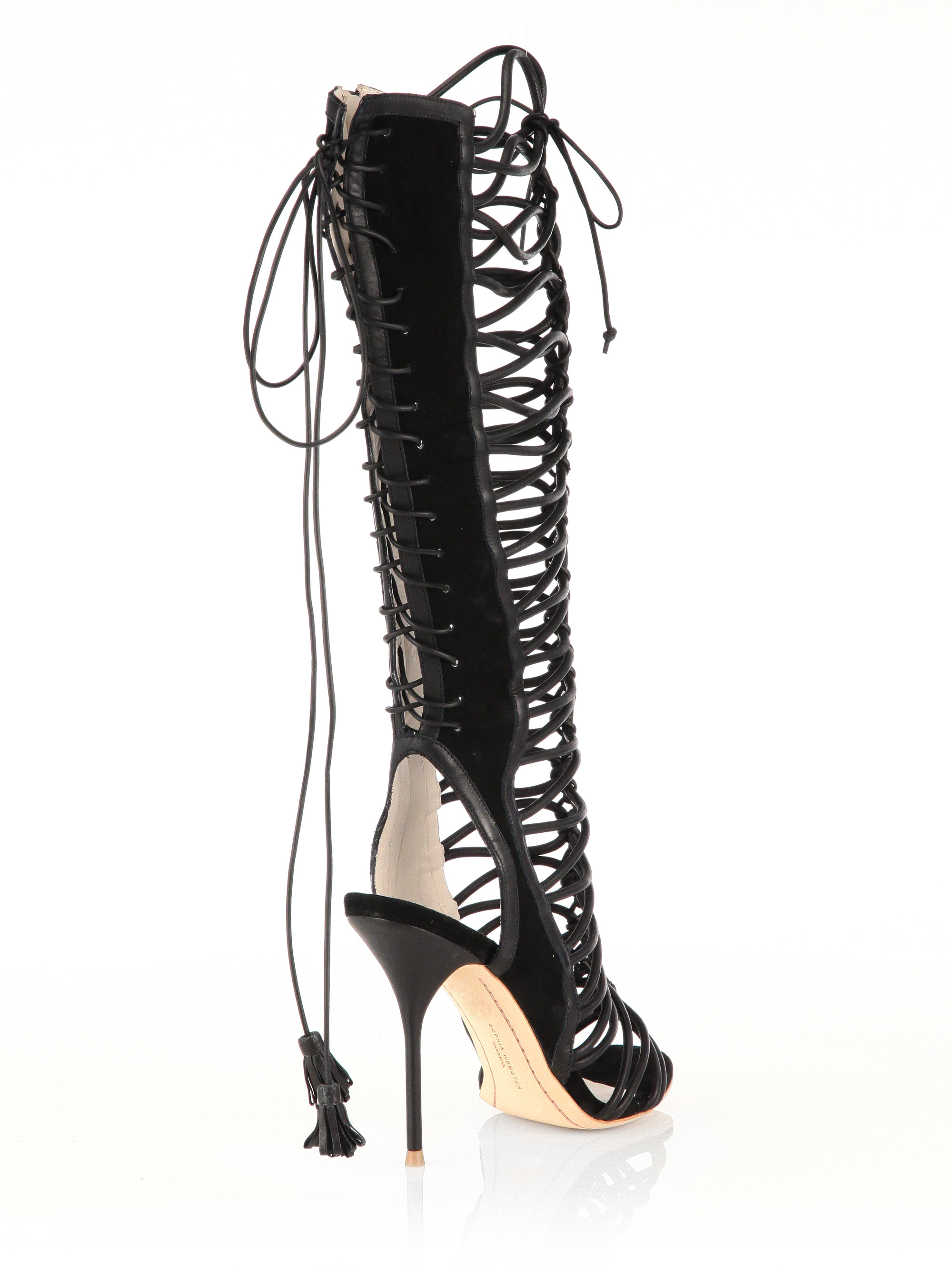 Sophia Webster Clementine Leather & Suede Lace-Up Sandal