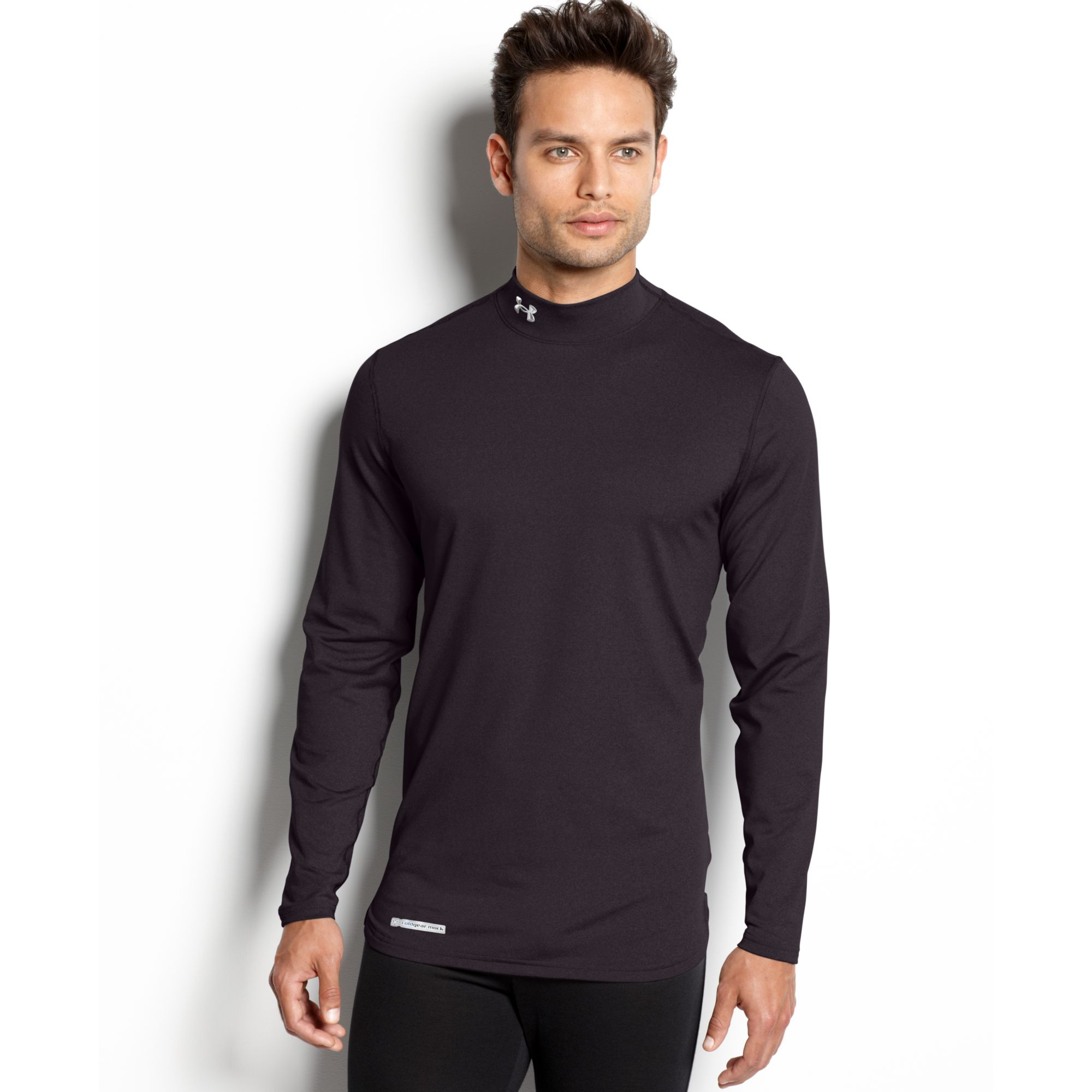 Under armour evo coldgear fitted long sleeve mock t shirt for Mock long sleeve t shirts