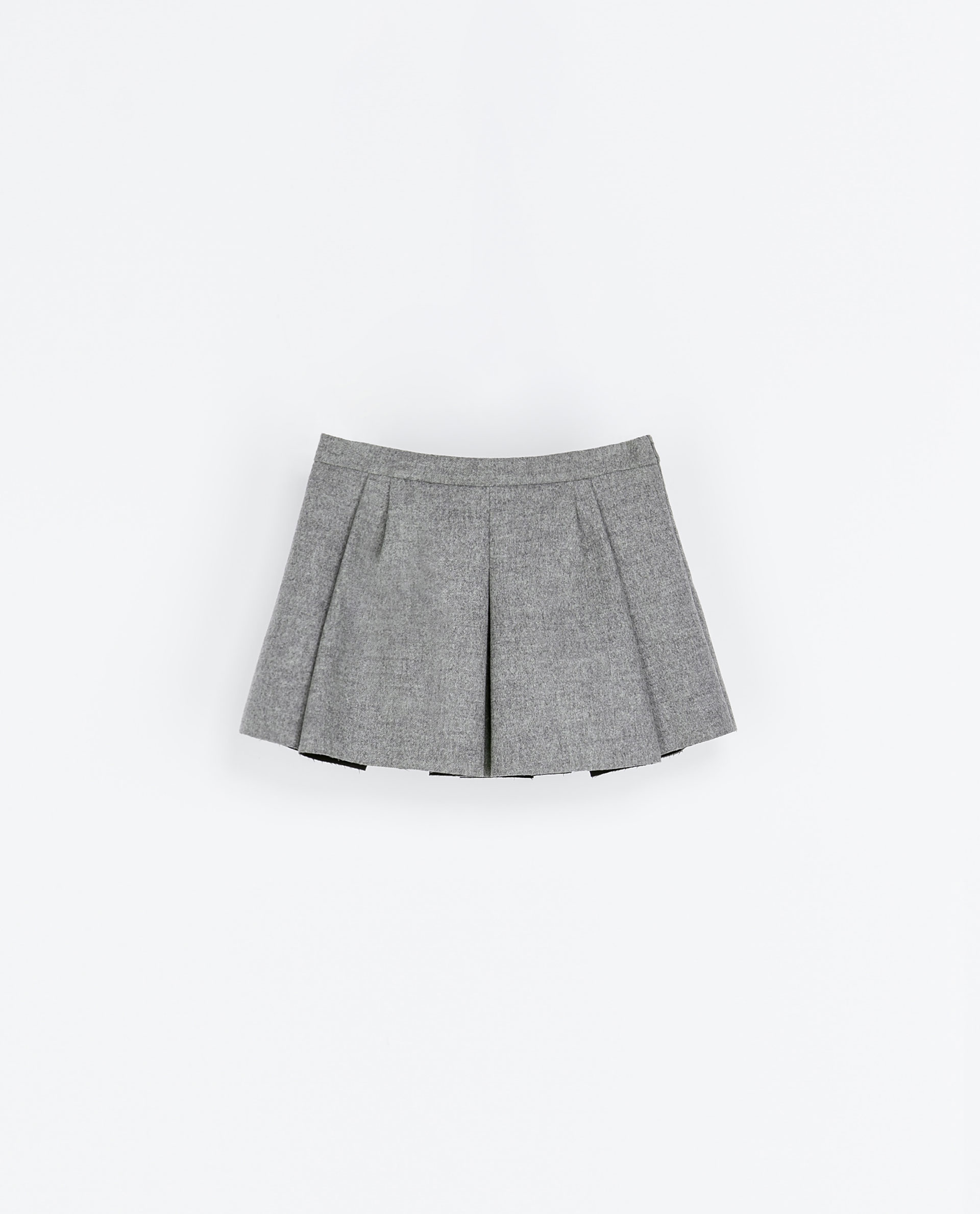 Zara Studio Box Pleat Skirt in Gray | Lyst