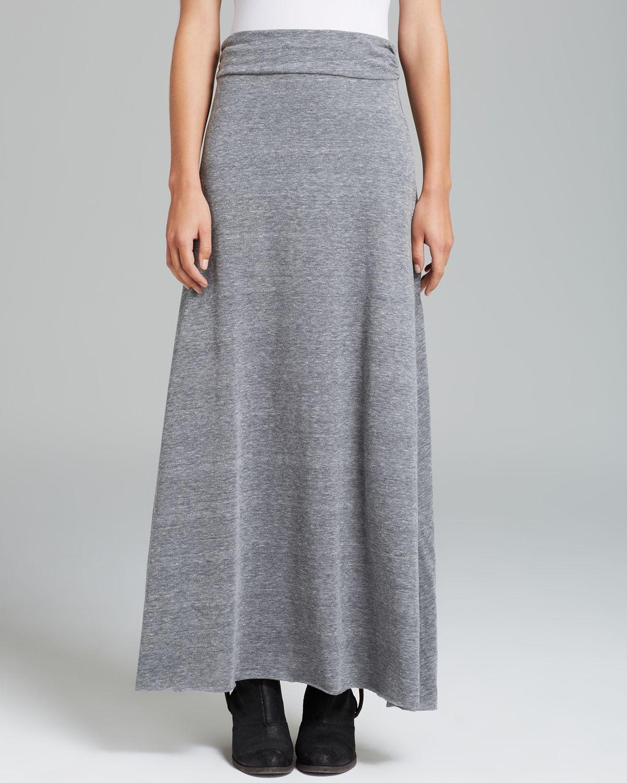 alternative apparel maxi skirt in gray eco