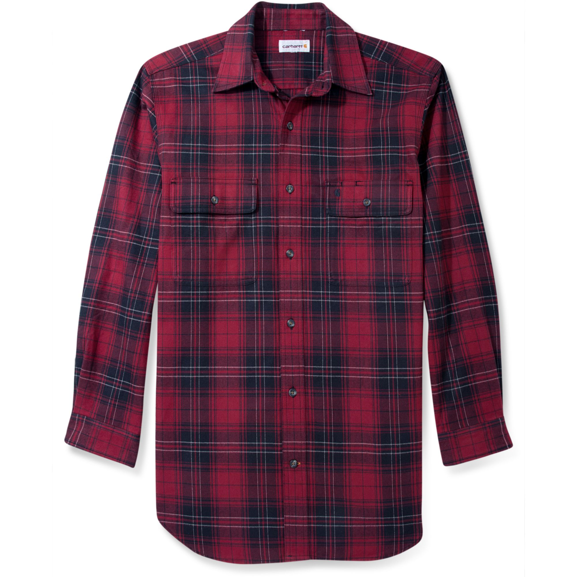 carhartt plaid shirt in red for men dark red lyst