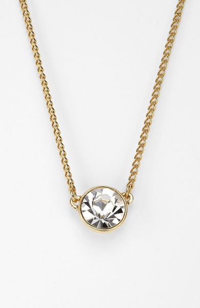 givenchy pendant necklace in gold gold clear