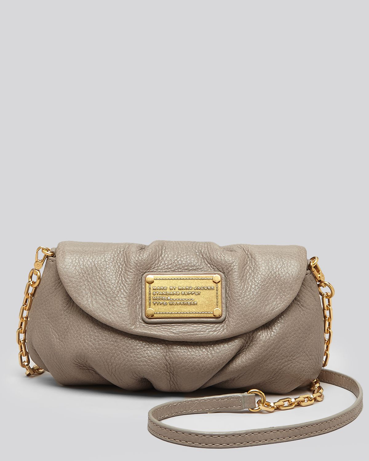 lyst marc by marc jacobs crossbody classic q karlie in gray. Black Bedroom Furniture Sets. Home Design Ideas
