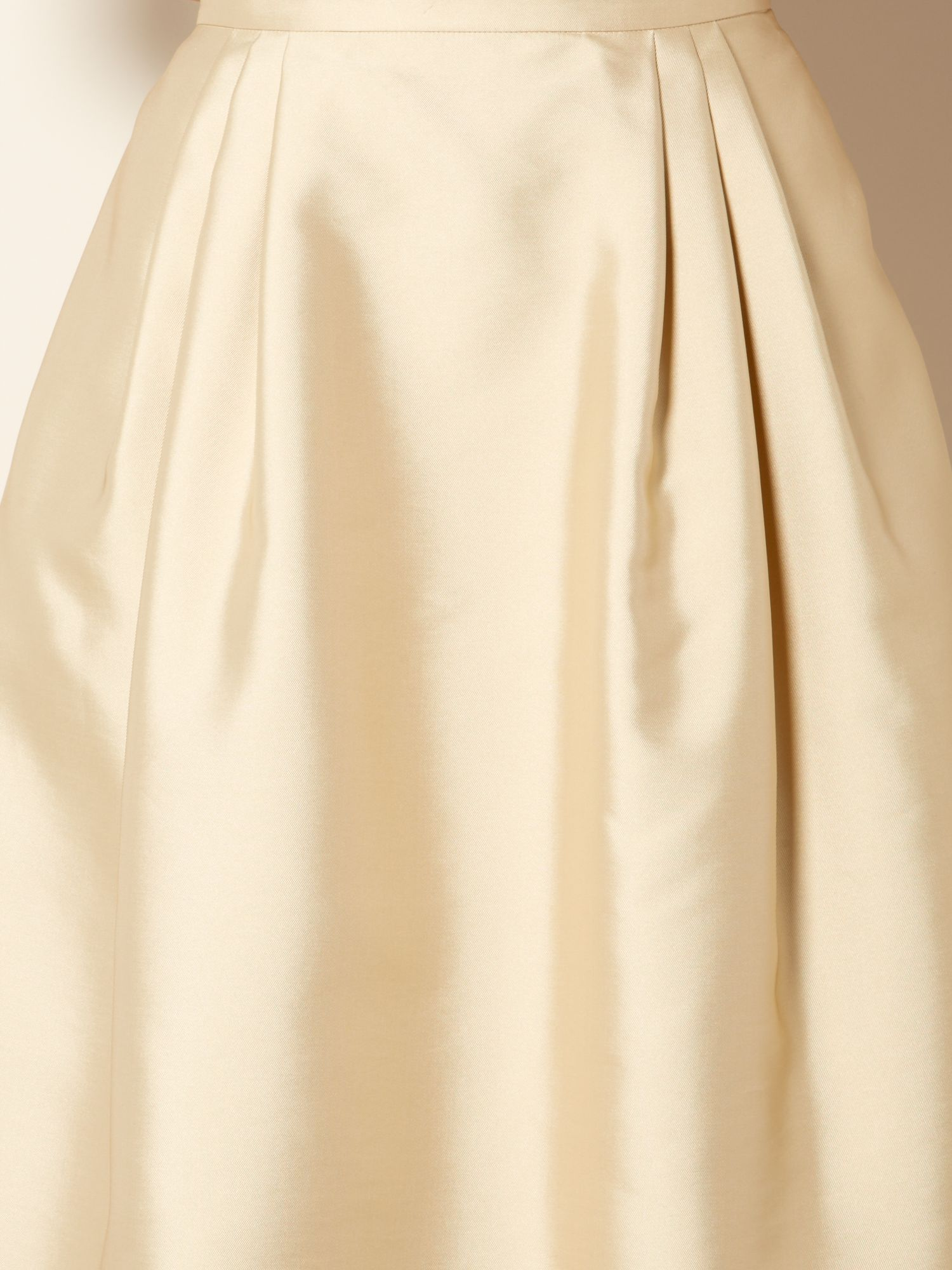 Max mara studio Braies Pleated A Line Skirt in Natural | Lyst