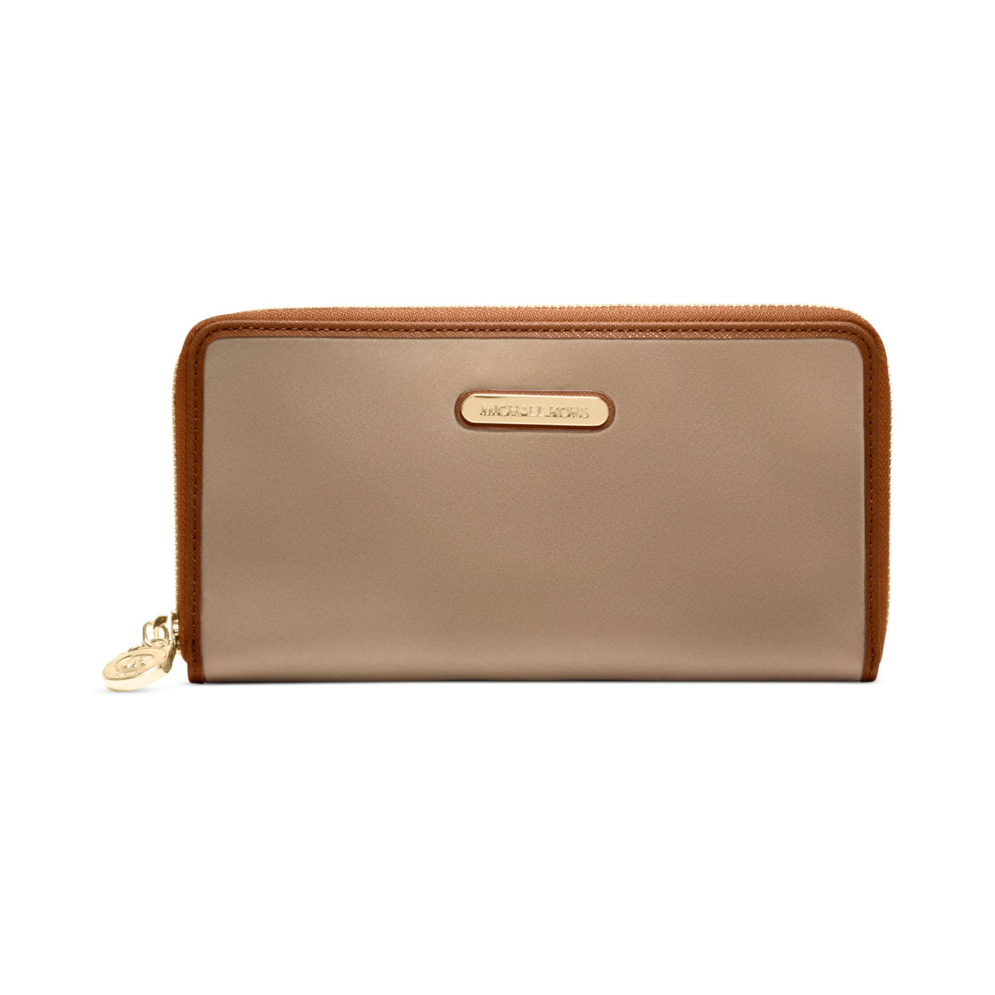 a66df9a45a13 ... ireland lyst michael kors kempton zip around continental wallet in  natural ef2cc d3360 ...