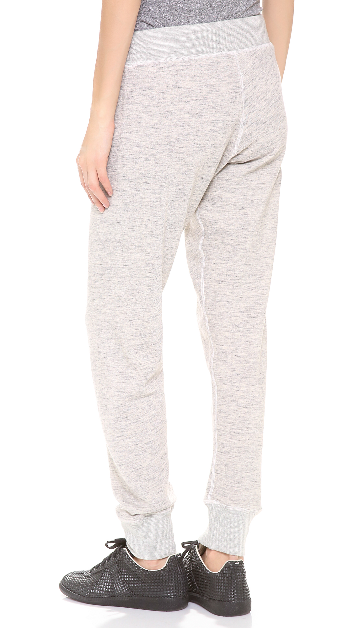 Monrow Space Waffle Sweatpants in Natural (Grey)