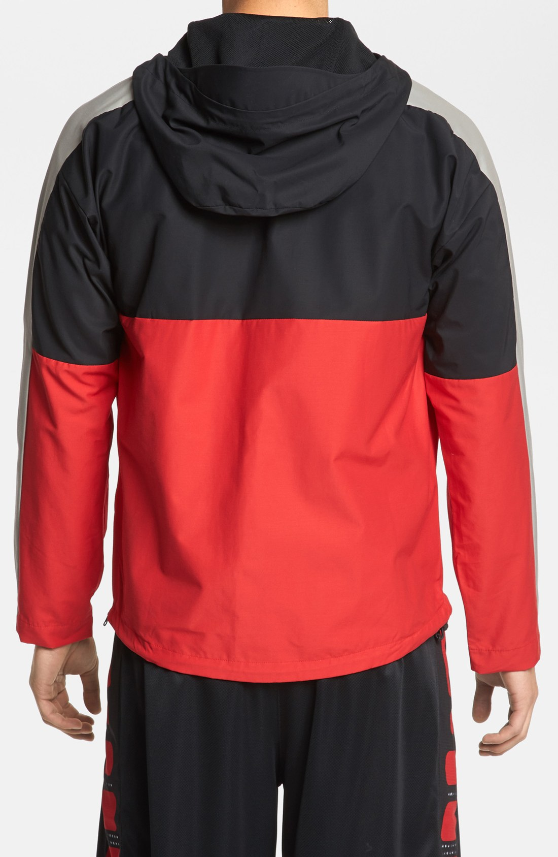 nike heritage air half zip jacket in red for men lyst. Black Bedroom Furniture Sets. Home Design Ideas