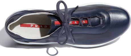 prada americas cup navy blue patent leather mens prada sneakers car interior design. Black Bedroom Furniture Sets. Home Design Ideas