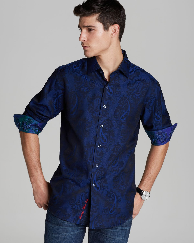 Robert Graham Copperhead Jacquard Paisley Sport Shirt ... Robert Graham Designer