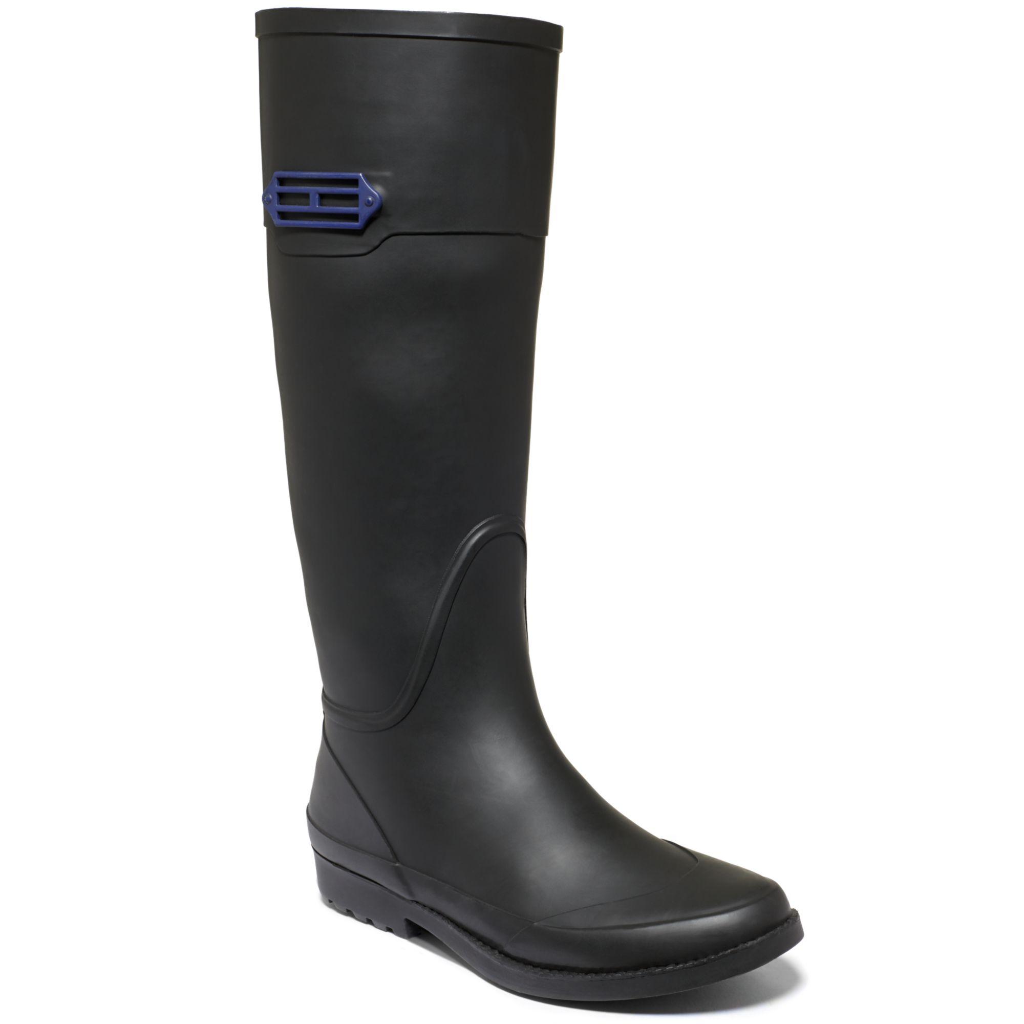 Tommy Hilfiger Coastal Rain Boots In Black - Lyst-8989