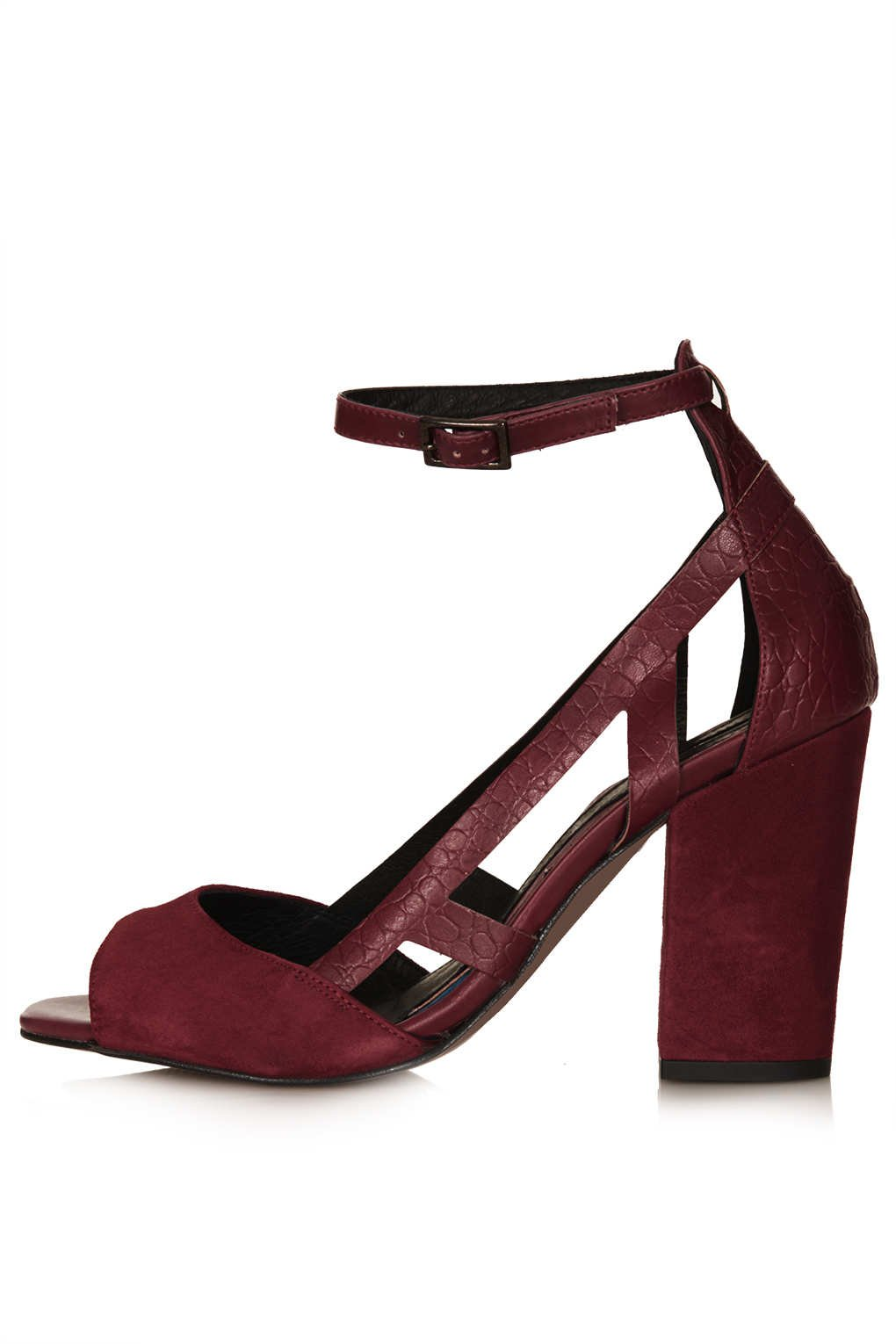 official store great deals look for Goal Block Heel Cut Out Shoes