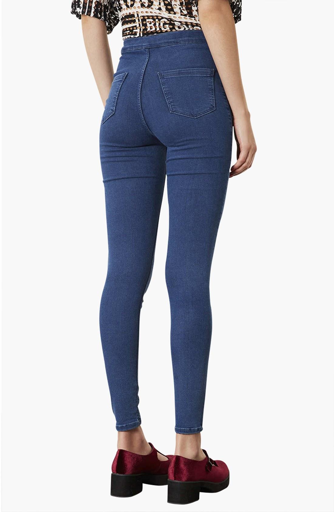 Topshop Moto Joni High Waist Skinny Jeans in Blue | Lyst