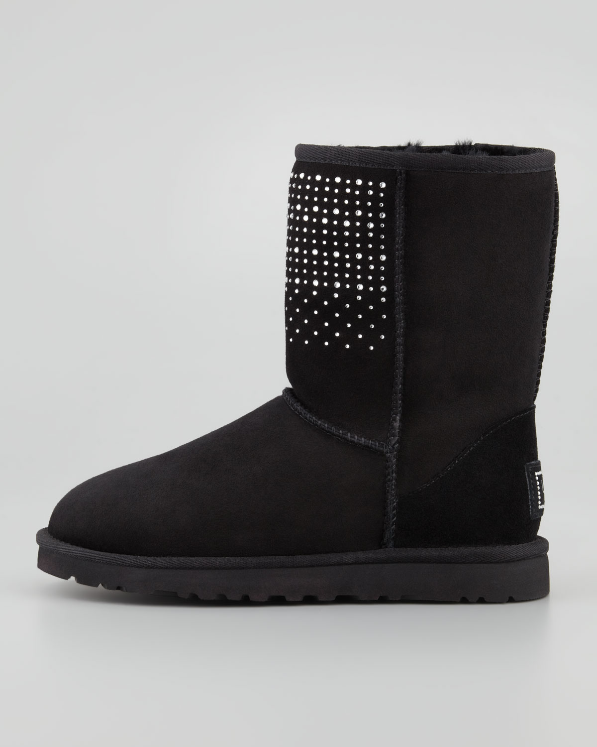 black ugg type boots