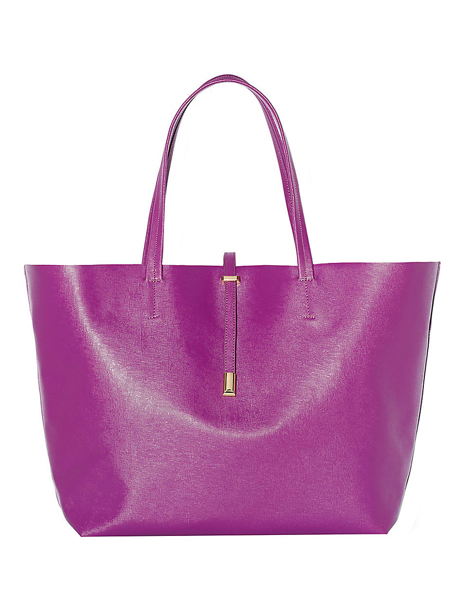 Vince Camuto Leila Leather Tote Bag In Purple Red Lyst