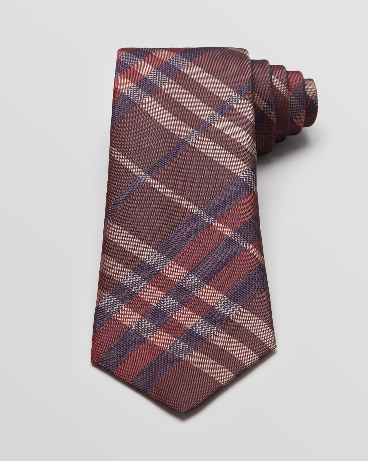 4d9729a8ca75 ... sale lyst burberry london eaton woven check classic tie in red for men  85129 457ad