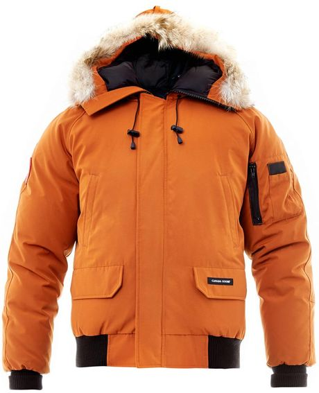 Canada Goose Chilliwack Bomber Jacket In Orange For Men Lyst