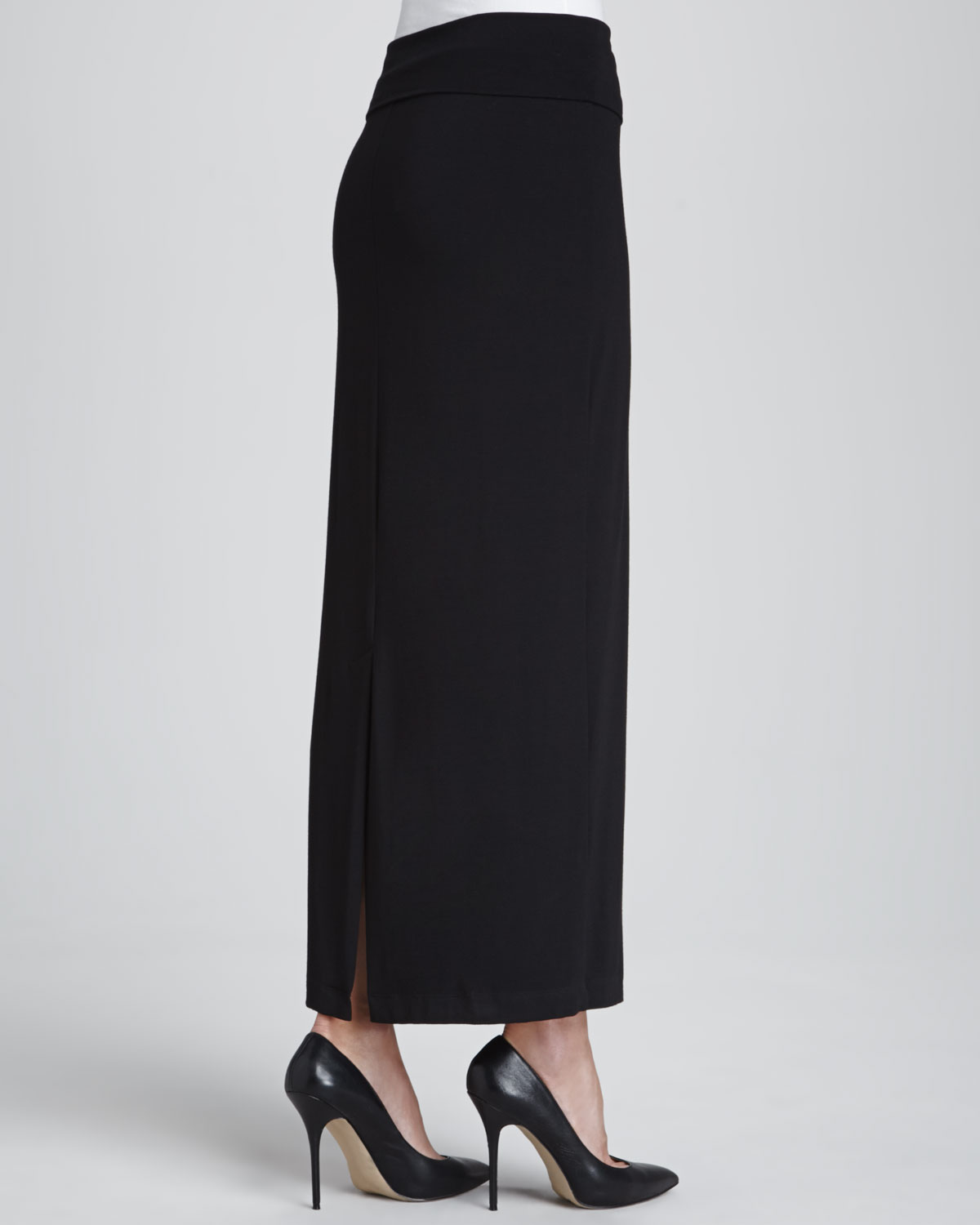 Eileen fisher Jersey Maxi Pencil Skirt Petite in Black | Lyst