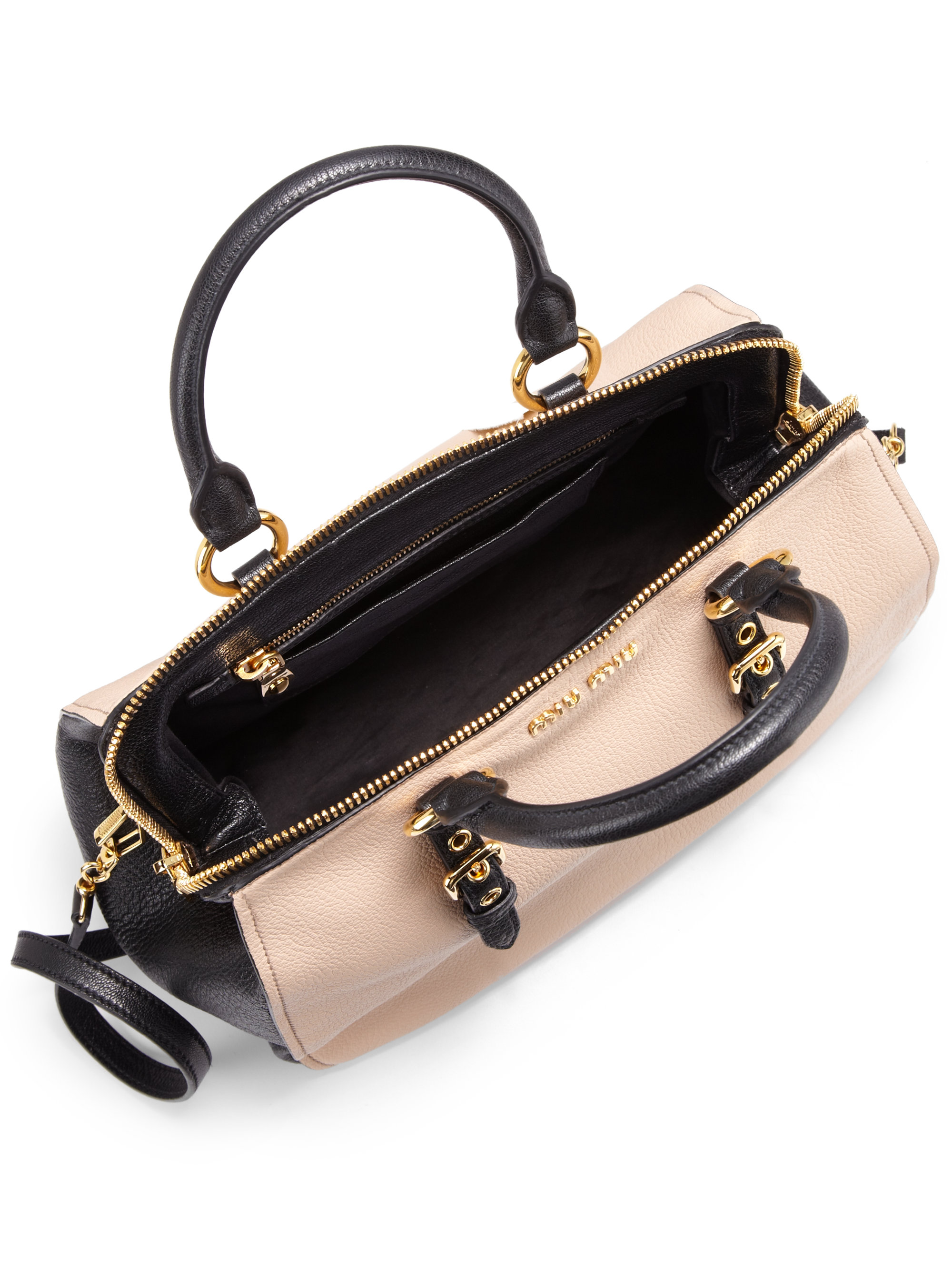 8649d5f83653 Gallery. Previously sold at  Saks Fifth Avenue · Women s Bowling Bags  Women s Miu Miu Shoulder ...