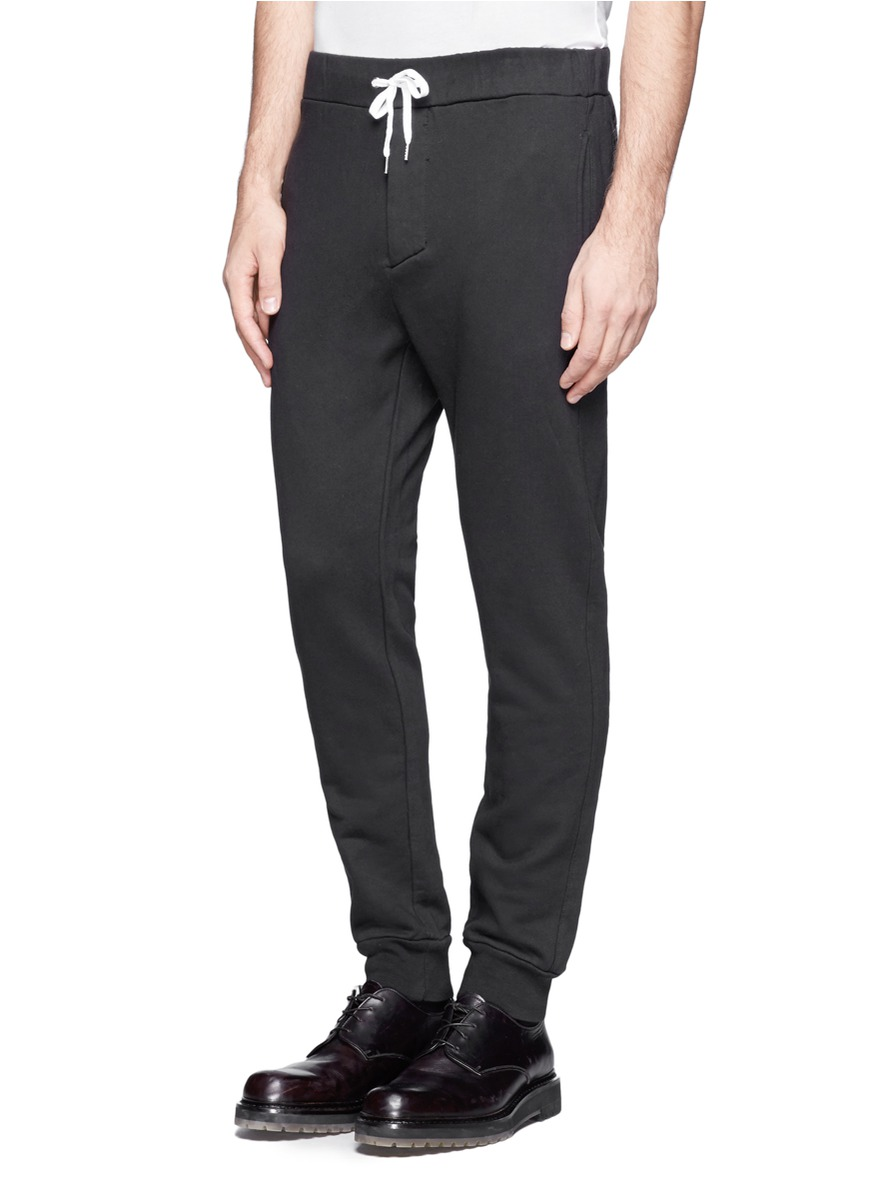 Acne Studios Drawstring Jogging Pants In Black For Men Lyst