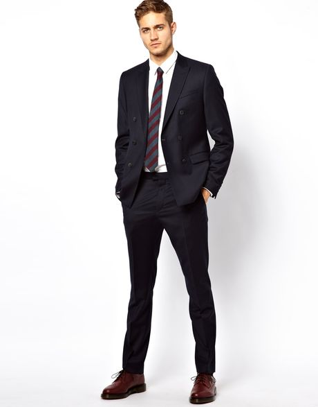 Penfield Slim Fit Suit Pants in Italian Fabric in Blue for Men (Navy)