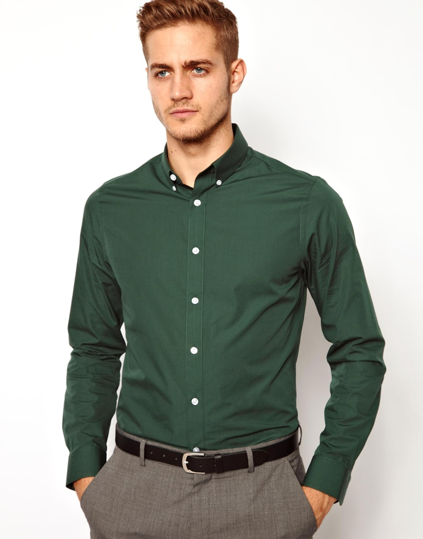 Green Button Down Shirt Men Pictures to Pin on Pinterest - PinsDaddy