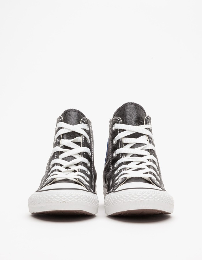 Converse Leather High Top All Star In Black Lyst