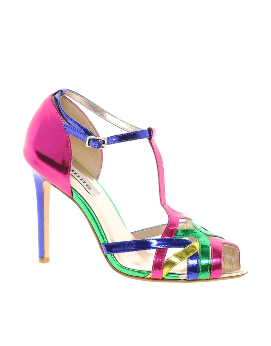 Dune | Multicolor Havian Multi Color Heeled Sandals | Lyst