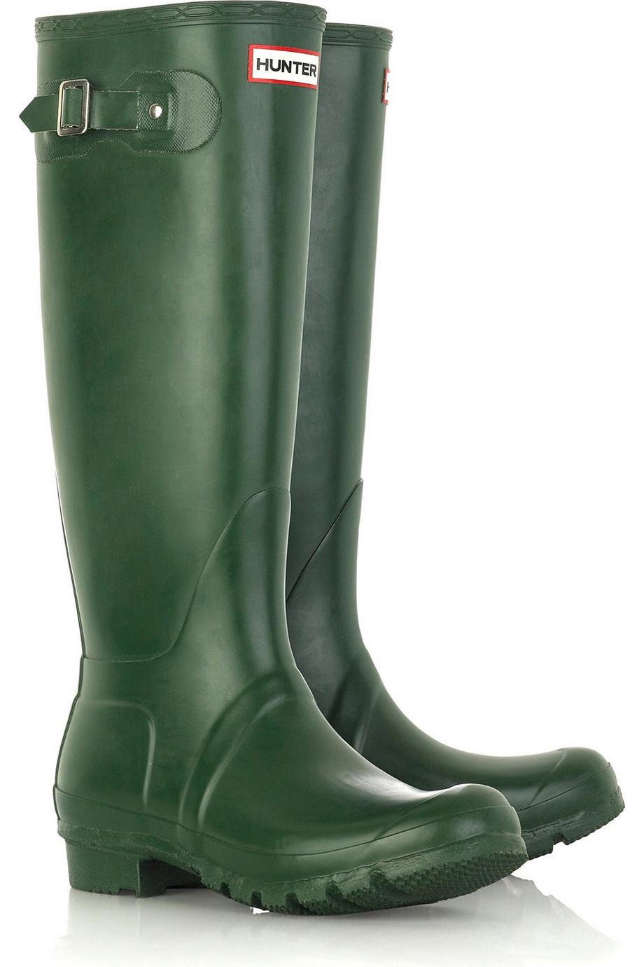 hunter original tall wellington boots in green lyst. Black Bedroom Furniture Sets. Home Design Ideas