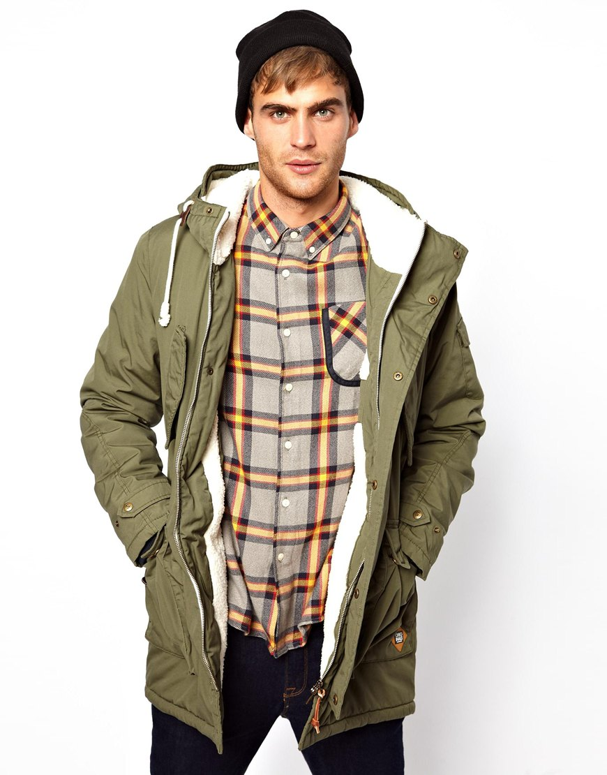 Images of Olive Green Winter Jacket - Reikian