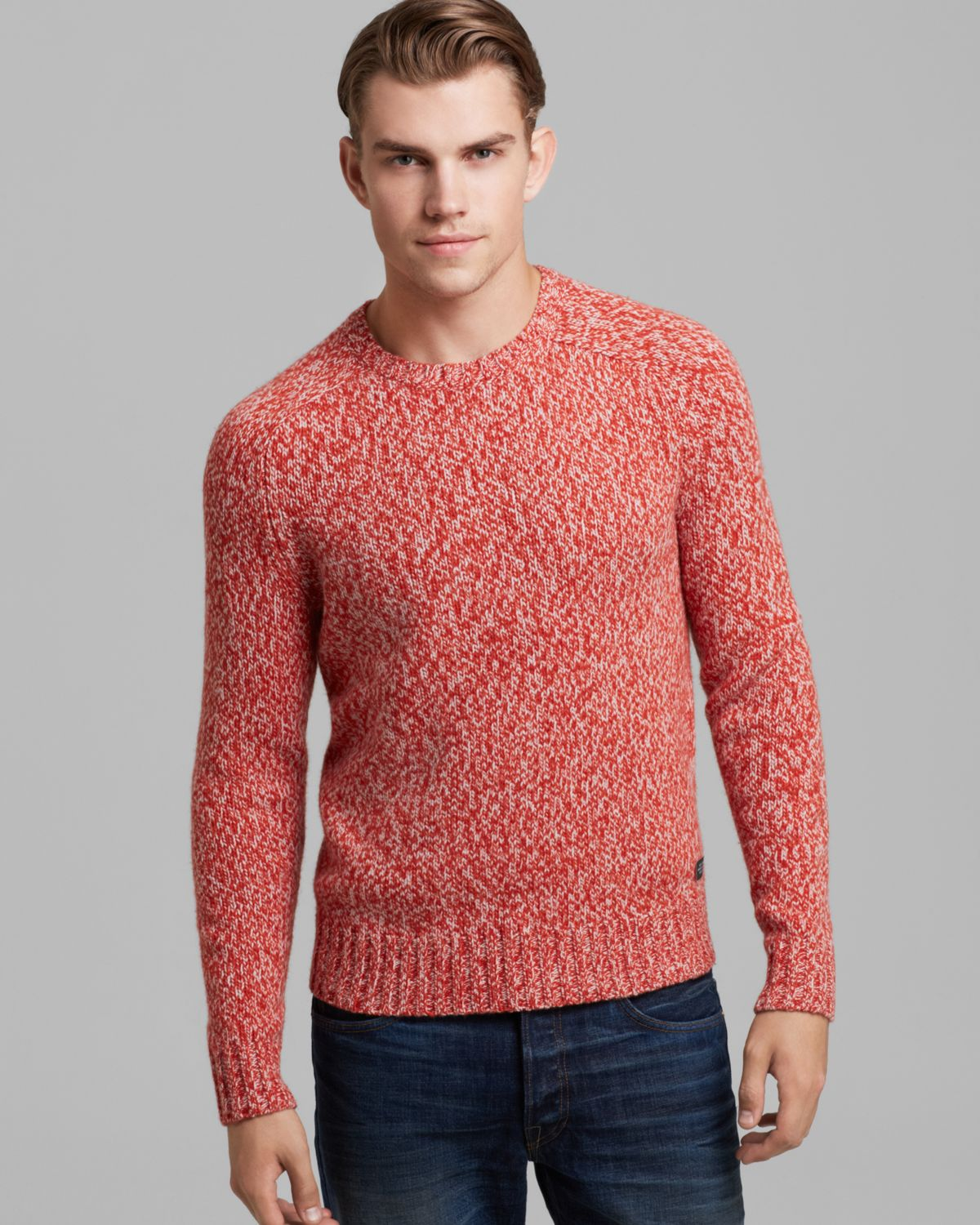 Jack spade Cameron Marled Crew Neck Sweater in Red for Men | Lyst