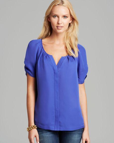 Joie Blue Silk Blouse 58
