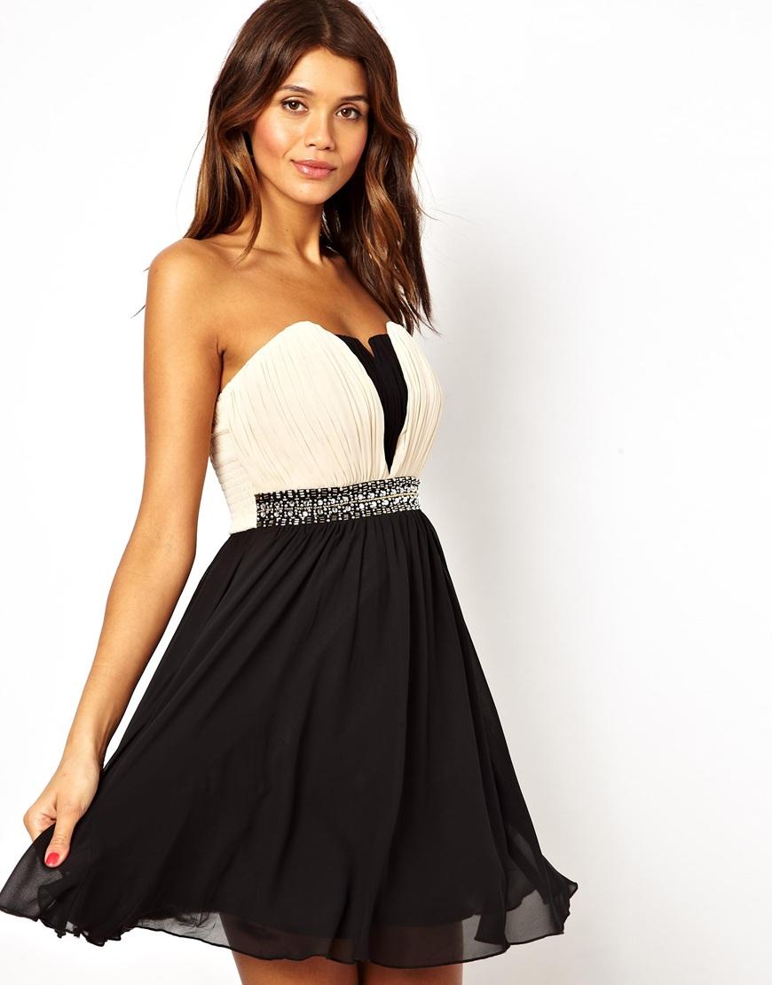 Bandeau Prom Dress