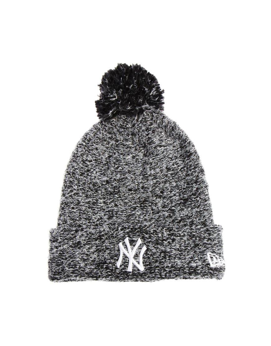 ef4c27bb9af Lyst - ASOS New Era Fleck Knit New York Yankees Bobble Beanie Hat in ...