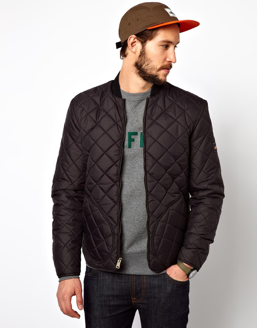 Penfield Landrum Quilted Bomber Jacket In Black For Men Lyst