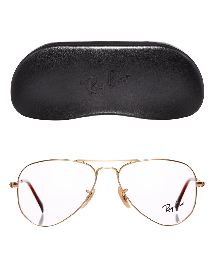 Lyst - ASOS Rayban Aviator Glasses in Metallic eccca737f5