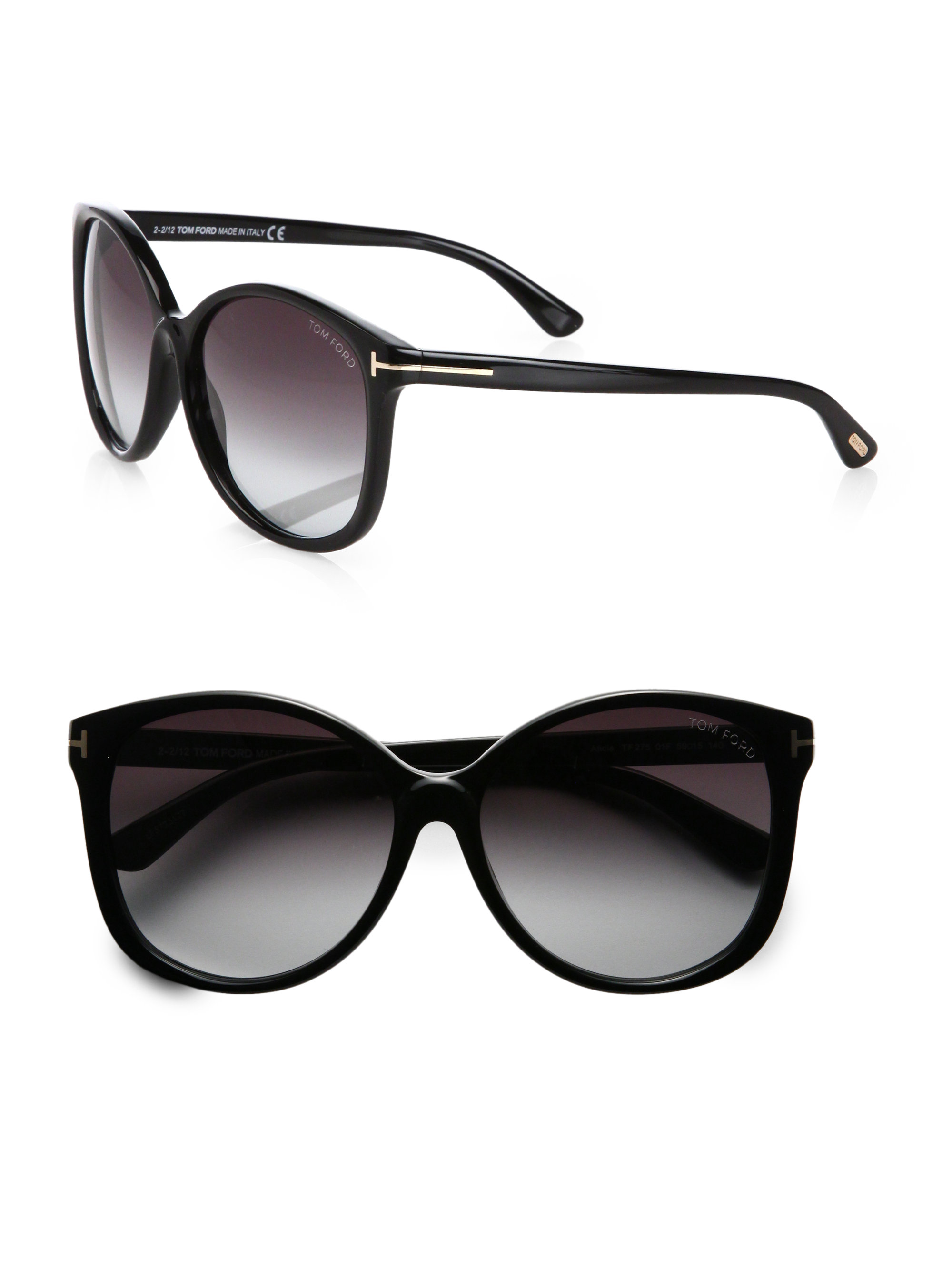 tom ford alicia oversized round acetate sunglasses in. Black Bedroom Furniture Sets. Home Design Ideas