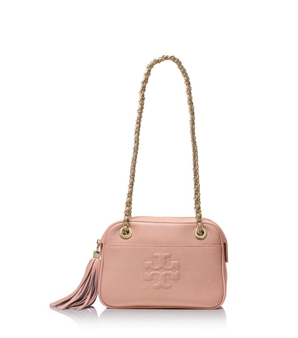 Tory Burch Pink Crossbody Bag Microfiber Travel Bag