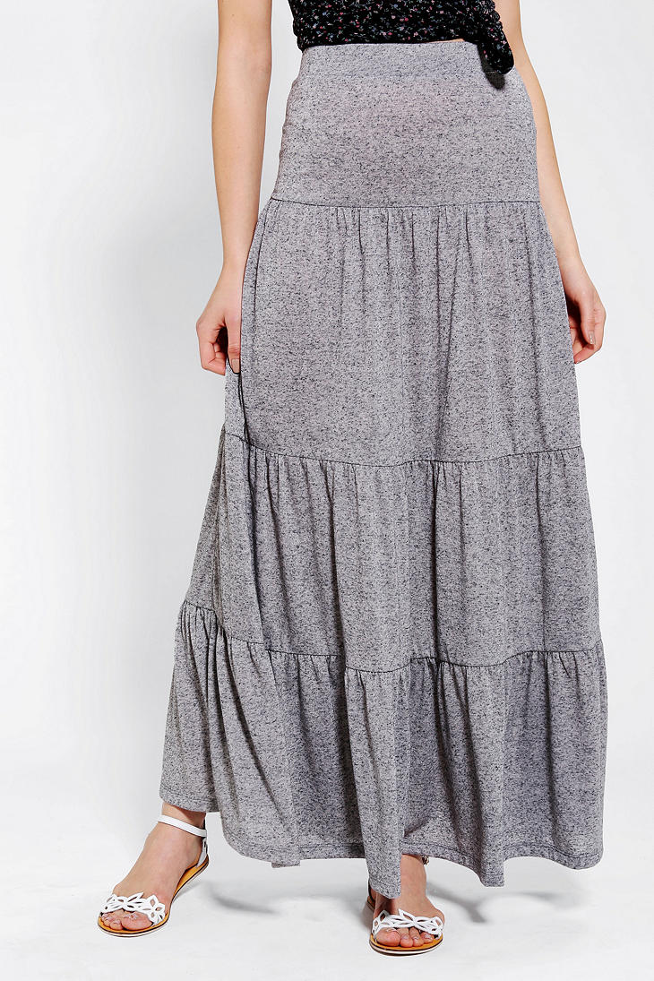 Gray knit maxi skirt – Modern skirts blog for you