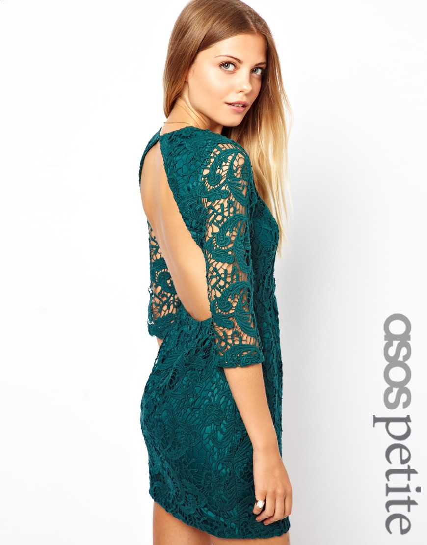 Exclusive Crochet Shift Dress With Cut Out Back