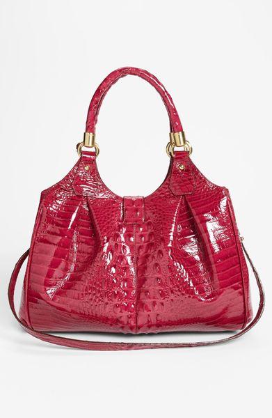 Brahmin Elisa Handbag in Purple (Rouge Patent)